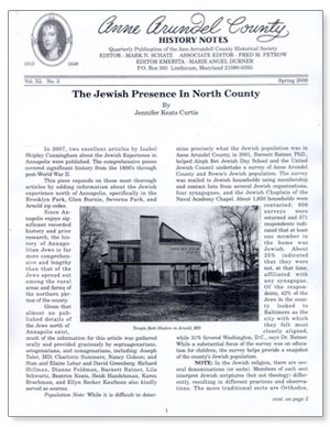 Anne Arundel County History Notes