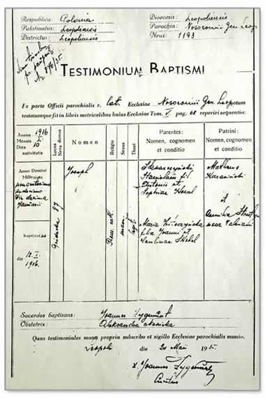 Baptismal Papers