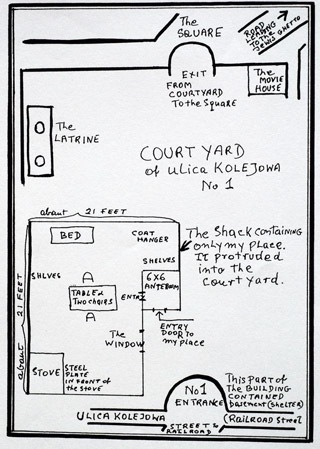 Map of author's shack